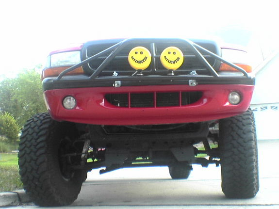 Large on Dodge Dakota On 35s