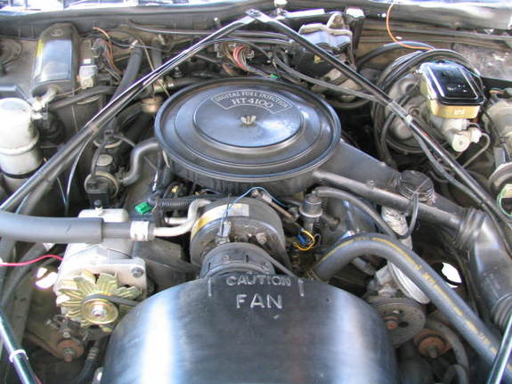 Large on Cadillac 4100 V8 Engine