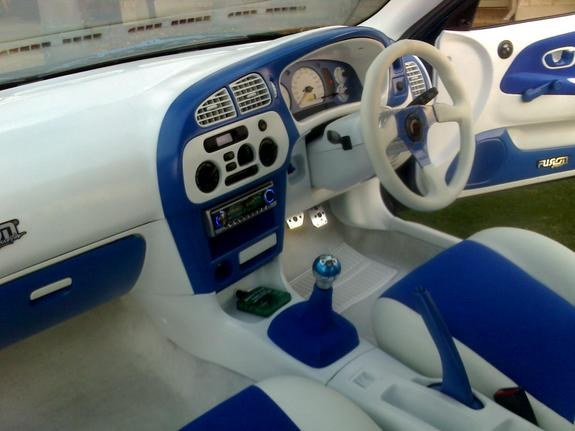 custom car interior blue images galleries with a bite. Black Bedroom Furniture Sets. Home Design Ideas
