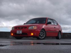 Red_Rouge_Accent 2002 Hyundai Accent