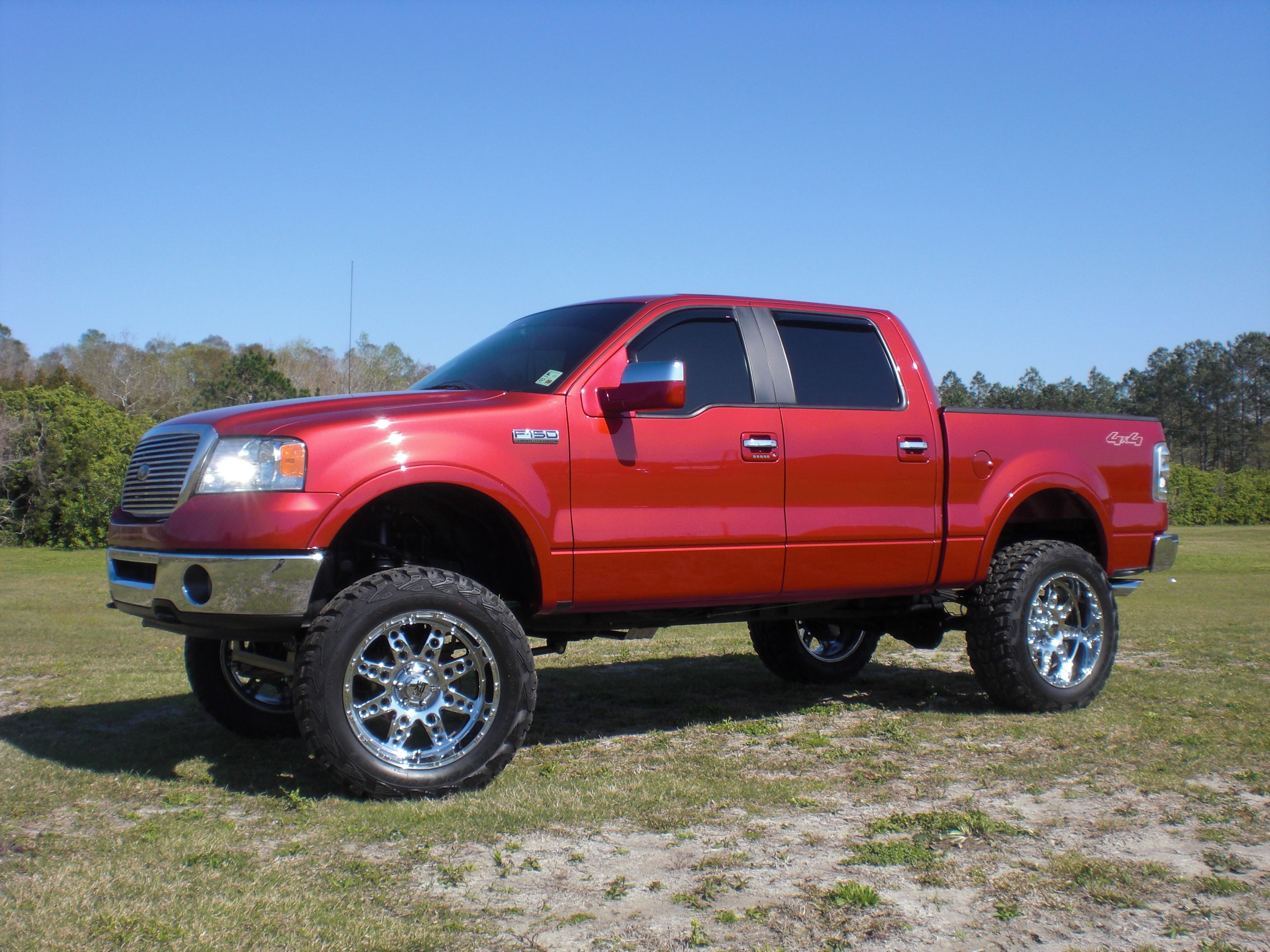 badazzf 150 2007 ford f150 regular cab - Red Ford F150 Lifted