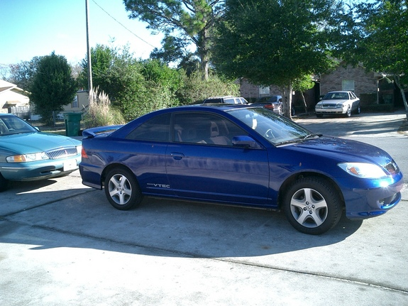 2004 honda civic 2 door blue