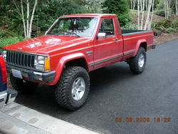 92kx250s 1986 Jeep Comanche Regular Cab