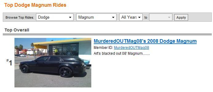 Another MurderedOUTMag08 2008 Dodge Magnum post... - 11181379
