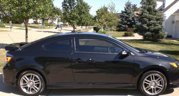 2009 scion tc. exterior - custom painted black rims