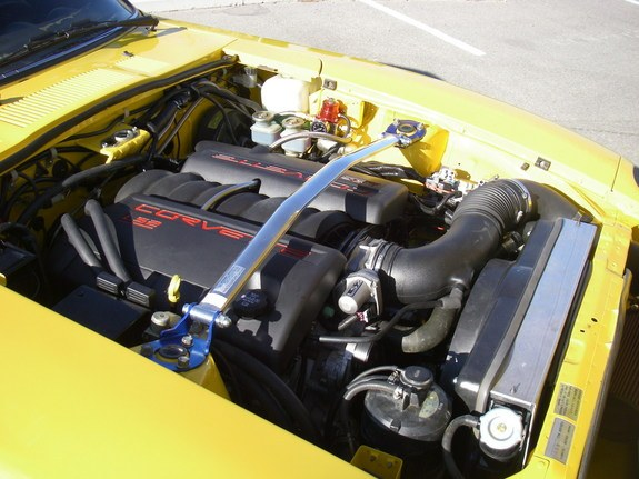 LS2 swapped into the engine bay of a 1978 Datsun 280z