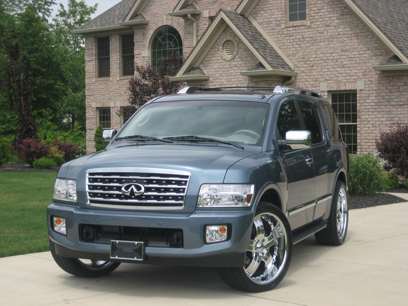 ridin strong 2008 infiniti qx specs photos modification info at cardomain. Black Bedroom Furniture Sets. Home Design Ideas