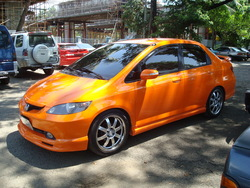 BlueBurnsOrange 2003 Honda City