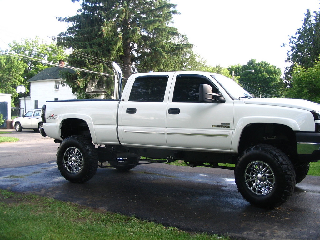Lifted Chevy Duramax With Stacks | Car Interior Design