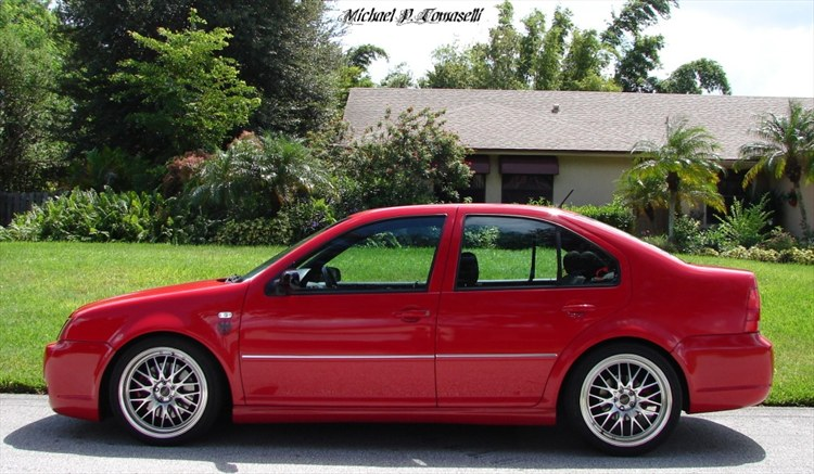 Red Jetta Black Wheels