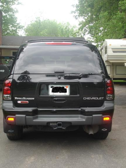 trailblazer ltz license plate holder rear