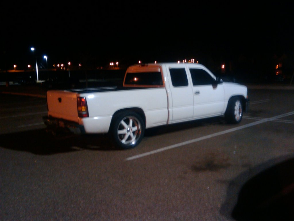 White Wheels on White Truck Wheels on a White Truck