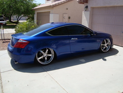 Juiced 08 Accord Coupe on 22's