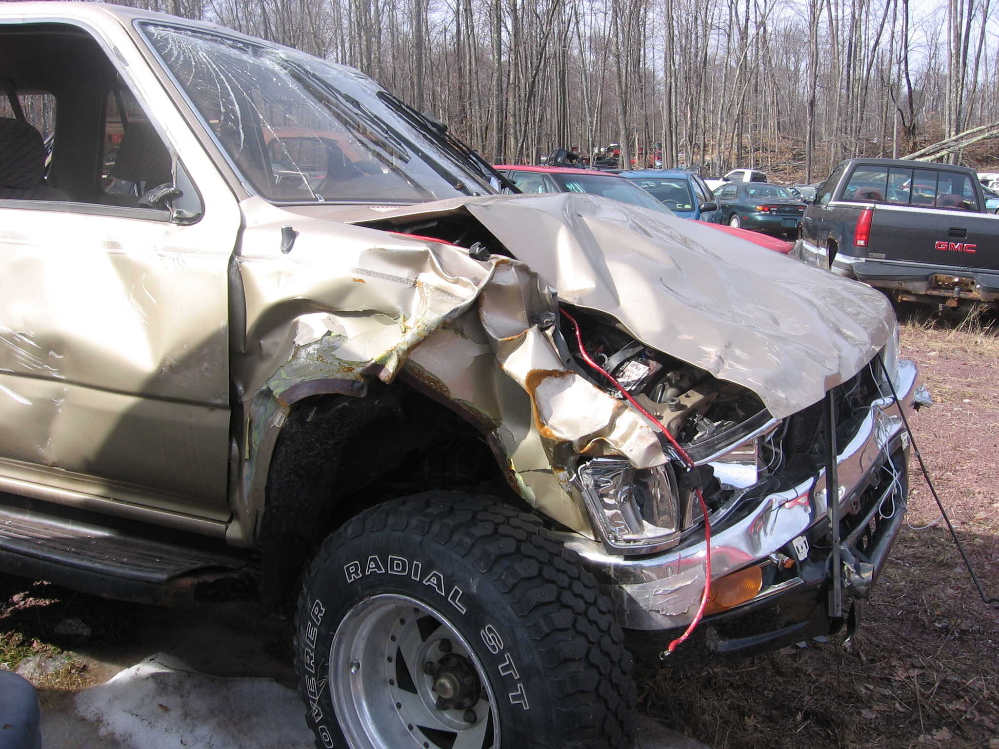 Another Metalhead8549 1992 Toyota 4runner Post Photo 12868520 Engine Was Pushed Back Into The Fire Wall A Few Inches