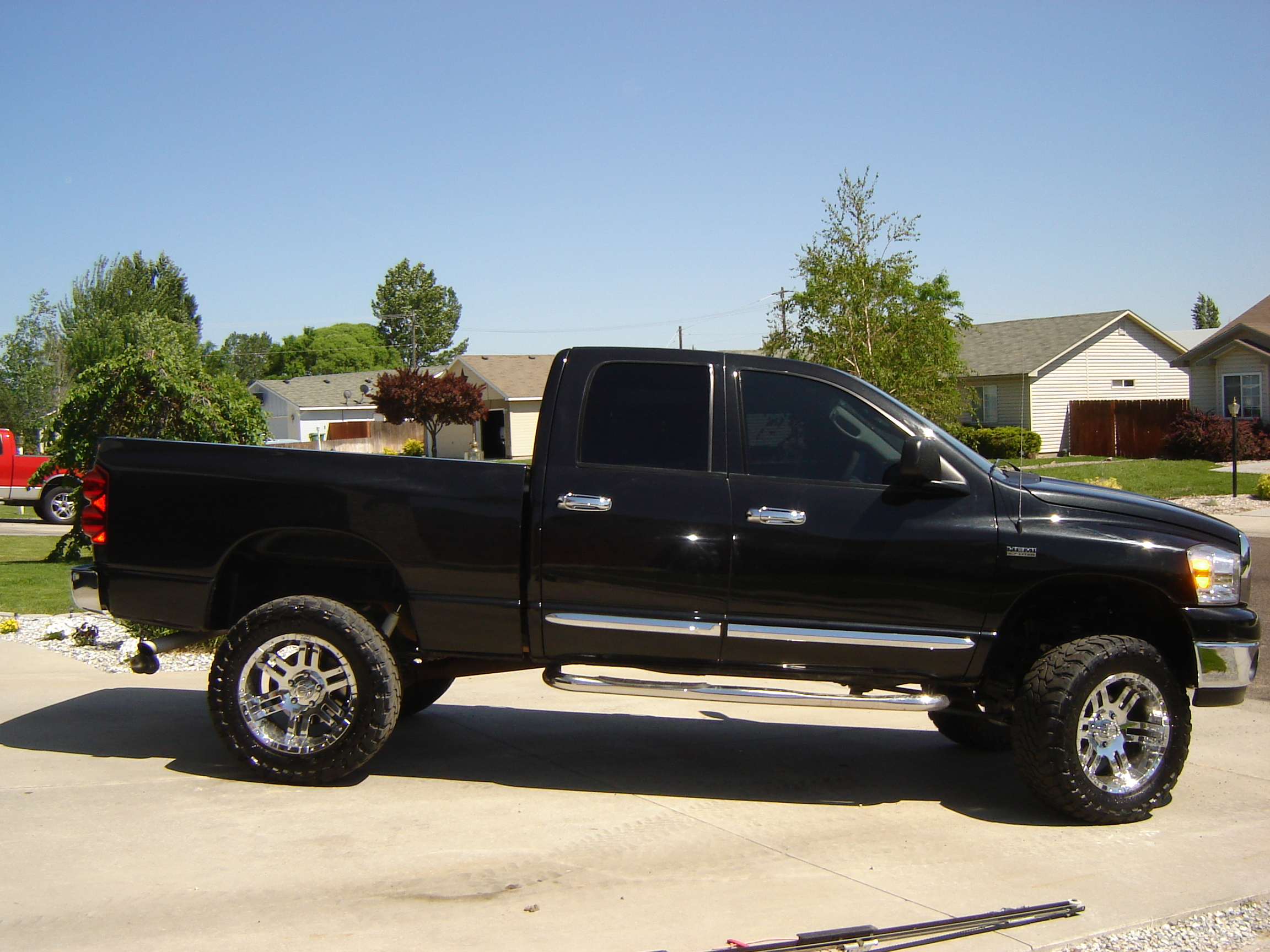 08blackbeast08 2008 dodge ram 1500 quad cabslt pickup 4d 6 1 4 ft specs photos modification. Black Bedroom Furniture Sets. Home Design Ideas