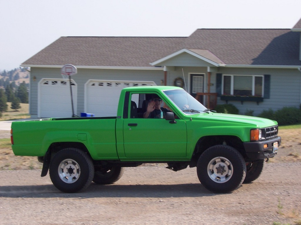 Gallery for gt lime green toyota truck