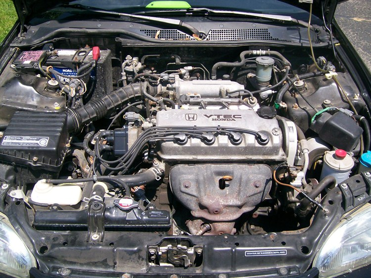 does anyone know of a diagram of a stock honda civic engine bay 92 1992 Honda Engine Diagram