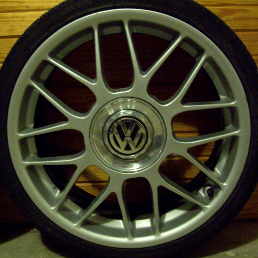 "Factory GLI 18"" BBS RC wheels."