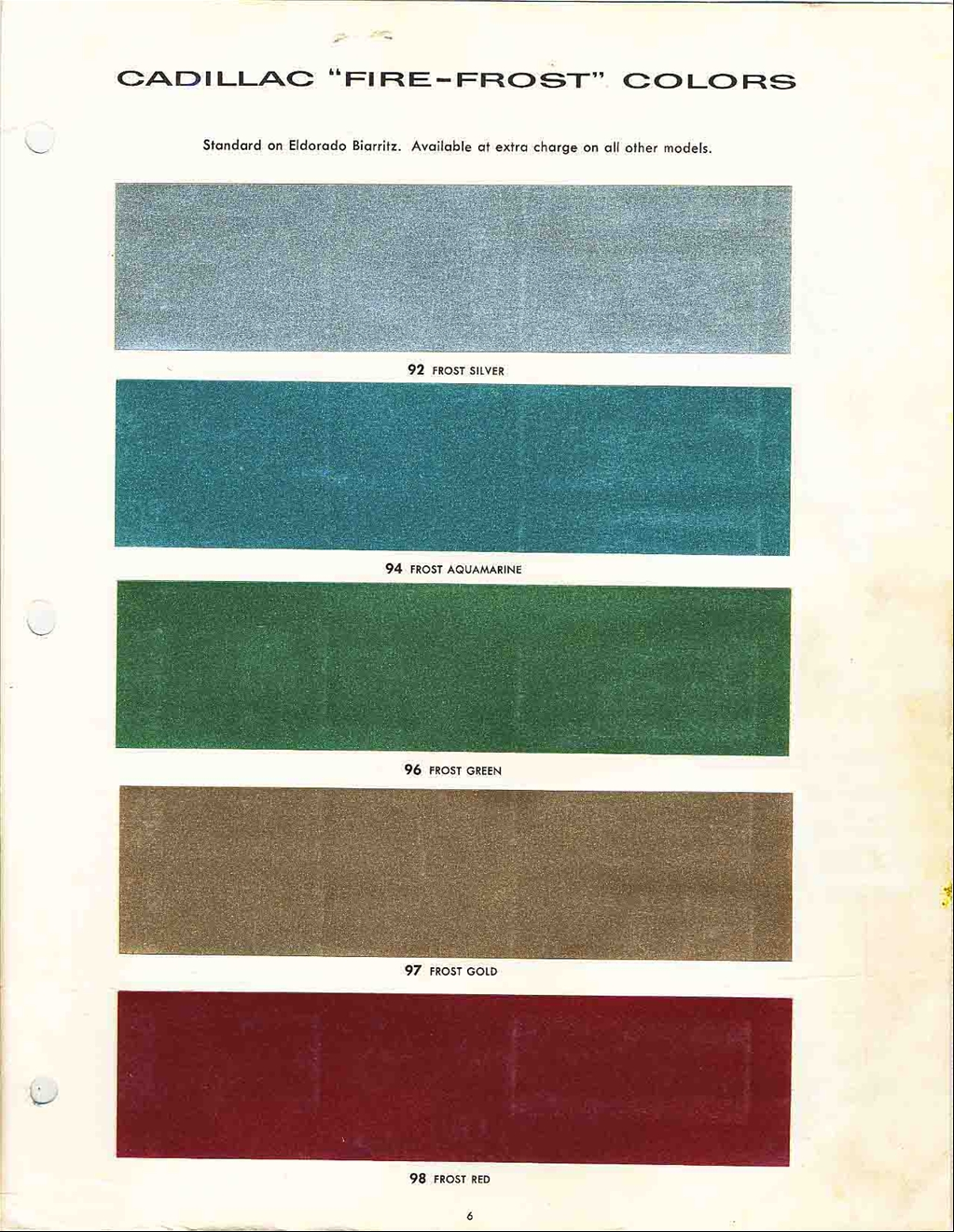 Official Cadillac Color Names and Paint Codes [Archive] - Cadillac ...