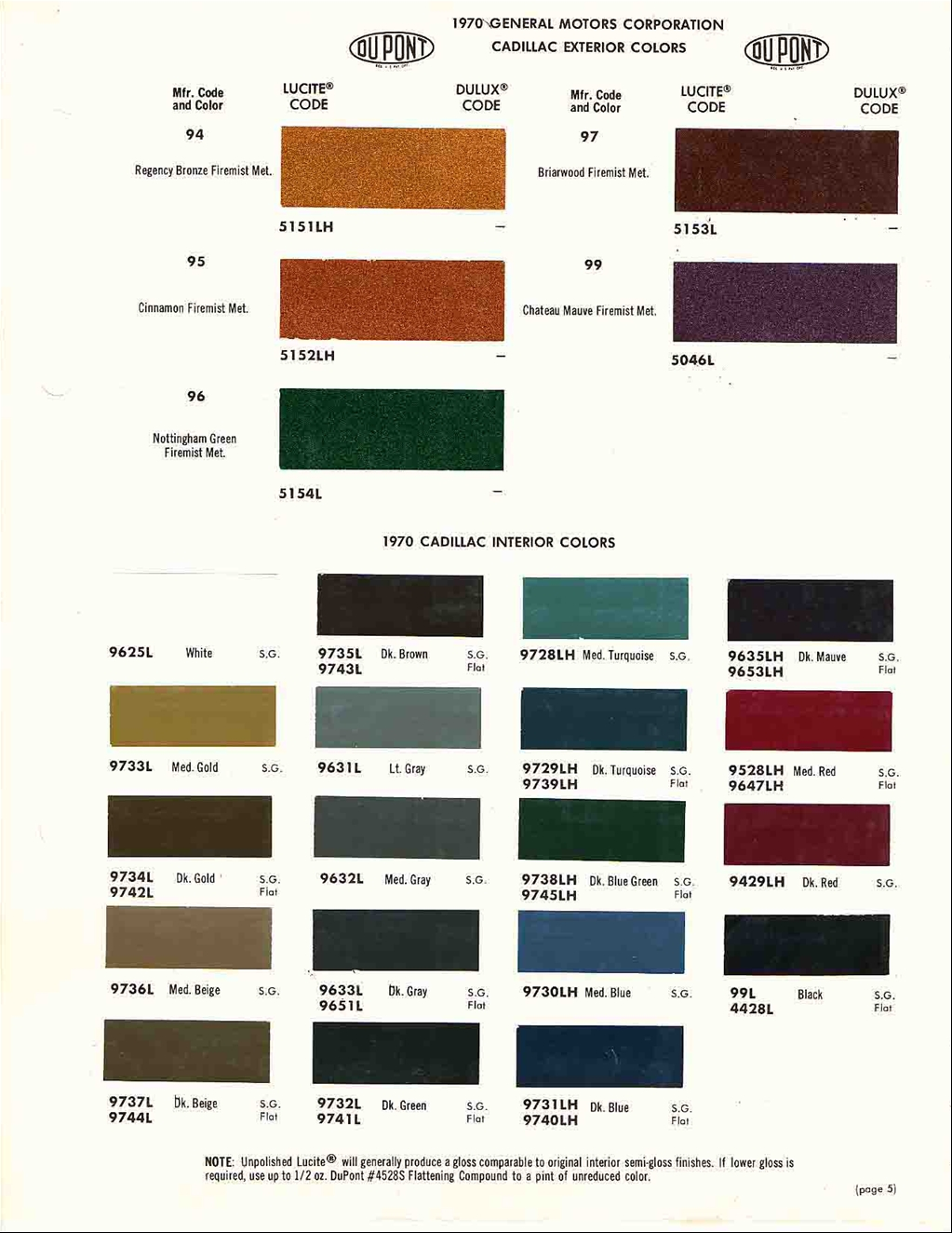 1961 Cadillac Paint Colors 1961 Cadillac Exterior Paint Chip Palette Paint Chips 1961 Pontiac