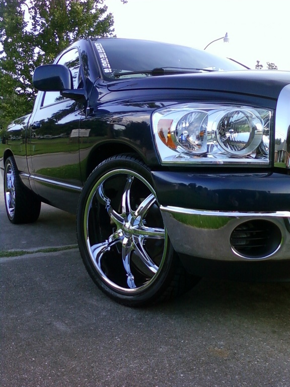 Large on Green Dodge Truck