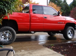 Badass_red_dodge 1998 Dodge Ram 1500 Club Cab