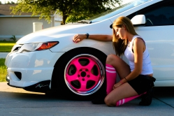 WhiteWithPinkFG1s 2008 Honda Civic