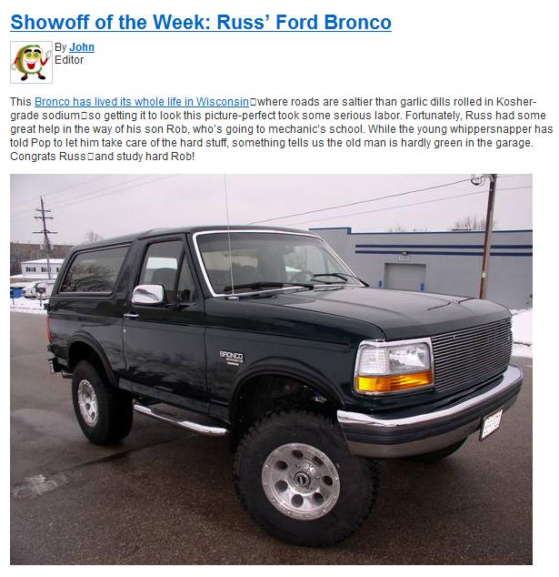 Frdbrnk408 1993 Ford Bronco 9641702