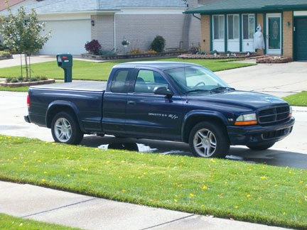 Large on Purple Dodge Dakota