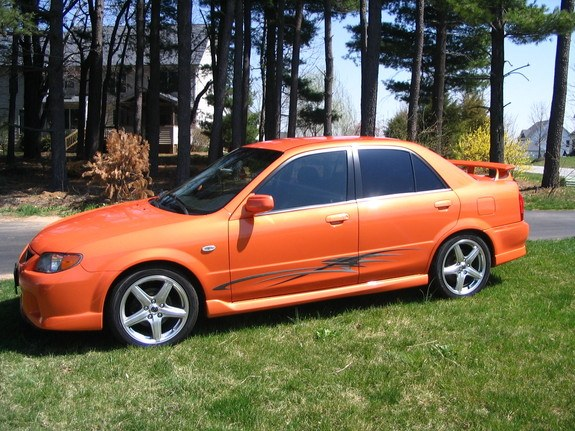 spicy orange 2003 mazda protege specs photos. Black Bedroom Furniture Sets. Home Design Ideas