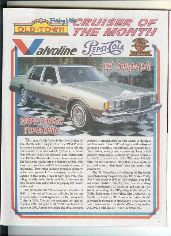 2685CHRIS 1984 Pontiac Parisienne 10240242