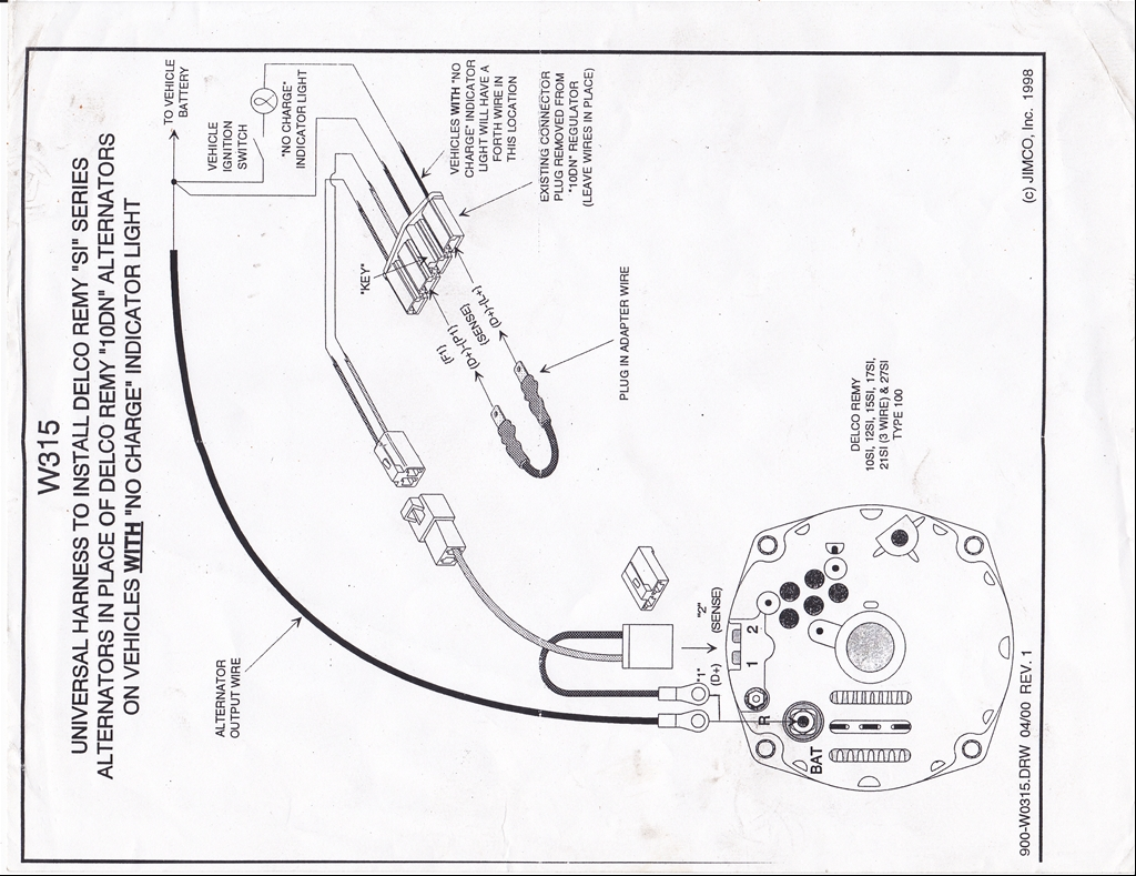 27446574004_large change from external regulator to internal regulator? chevytalk gm internal regulator wiring diagram at virtualis.co