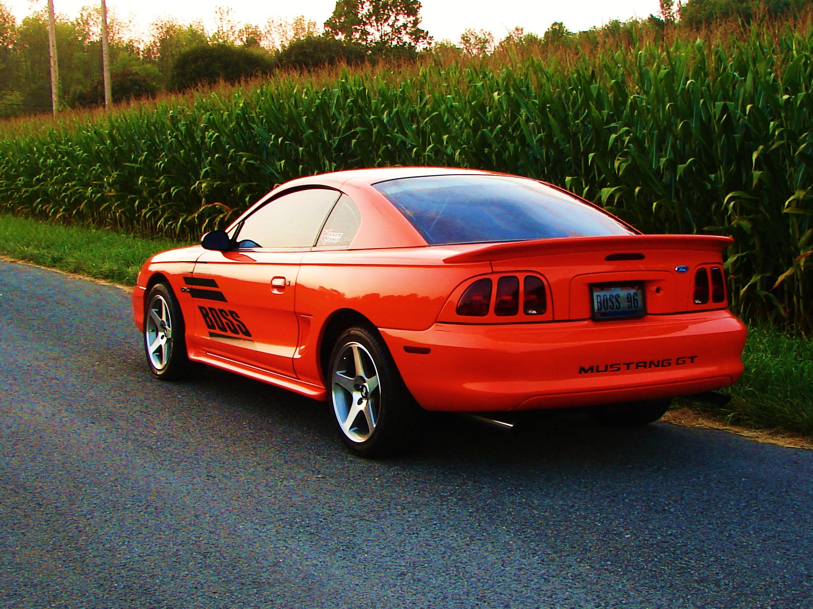 orange stang 1996 ford mustanggt coupe 2d specs photos modification info at cardomain. Black Bedroom Furniture Sets. Home Design Ideas