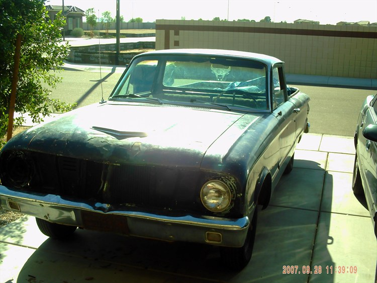 This is my 1962 Ford Ranchero!