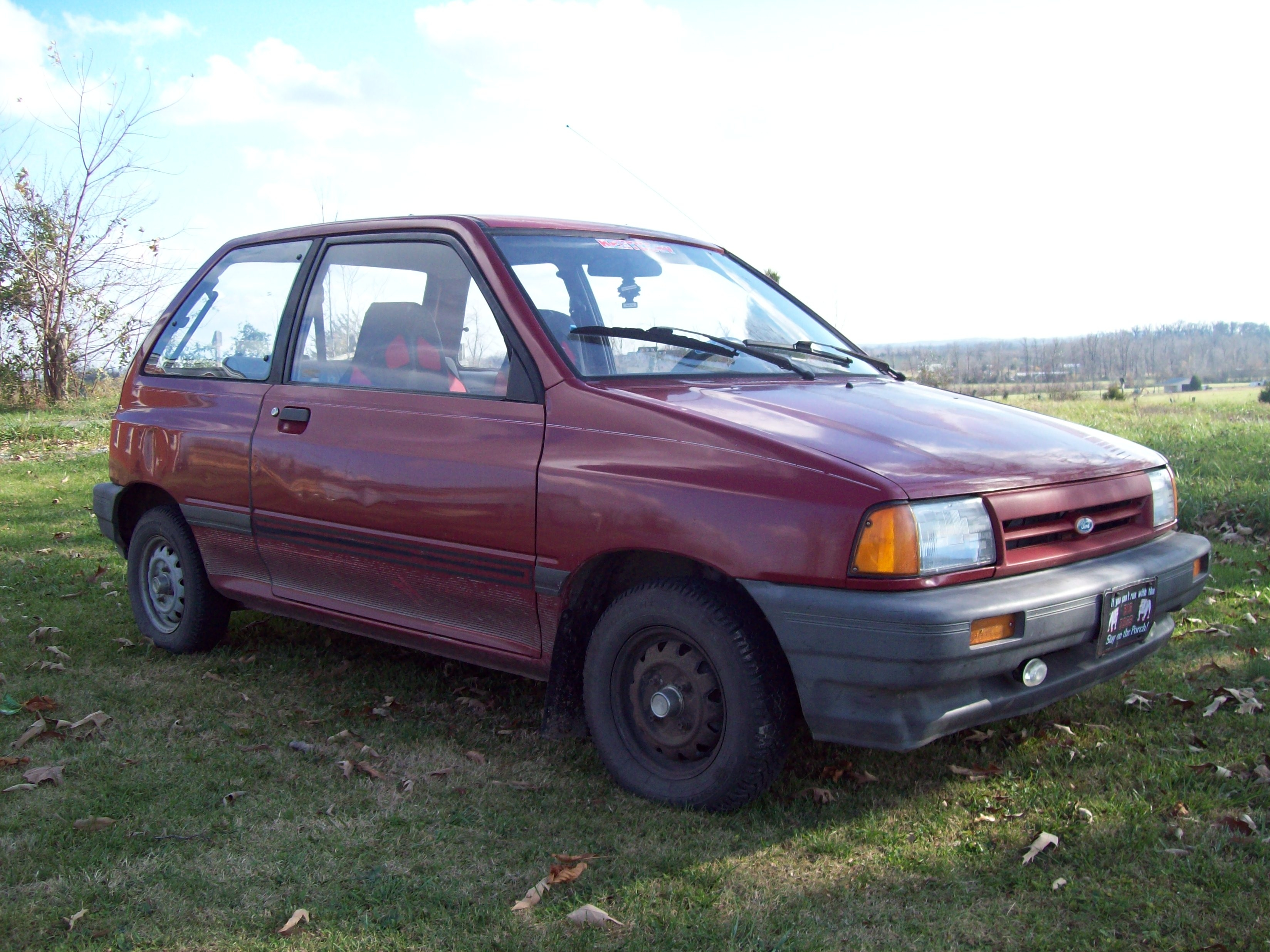 Another Big Guy 1989 Ford Festiva Post