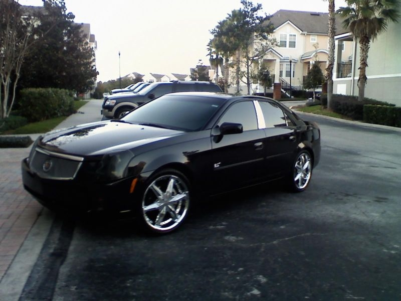 Car Word Designs: cadillac on 22s