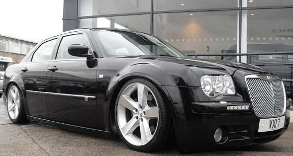 Chrysler 300 Black On Black. my uncles lack Chrysler 300C