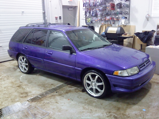 Ford escort mauve hatchback