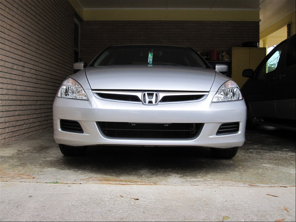 license plate frame on front bumper drive accord honda. Black Bedroom Furniture Sets. Home Design Ideas