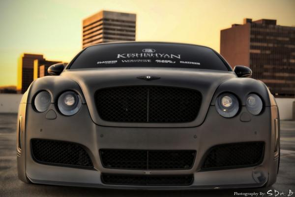 MURDER MATT BLACK BENTLEY GT
