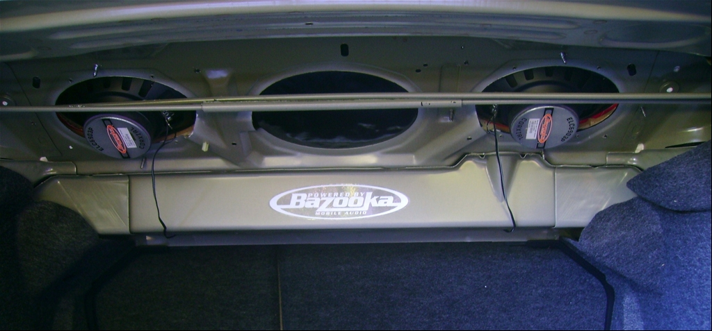 Ford Fusion Rear Deck Speaker Size