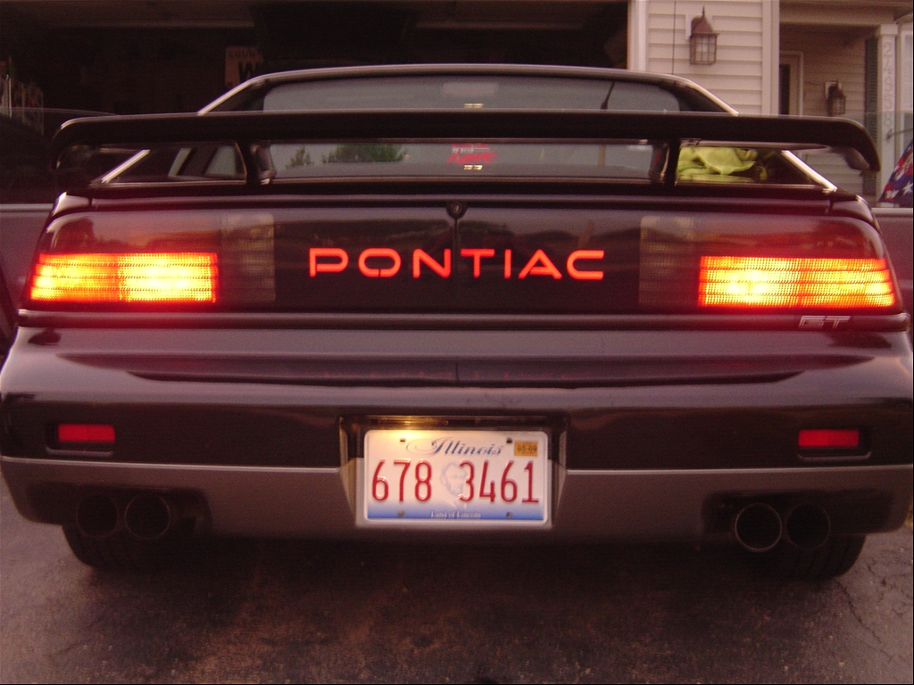 1986 88 pontiac fiero gt tail light led upgrades  used pontiac gto tail lights for 04 06