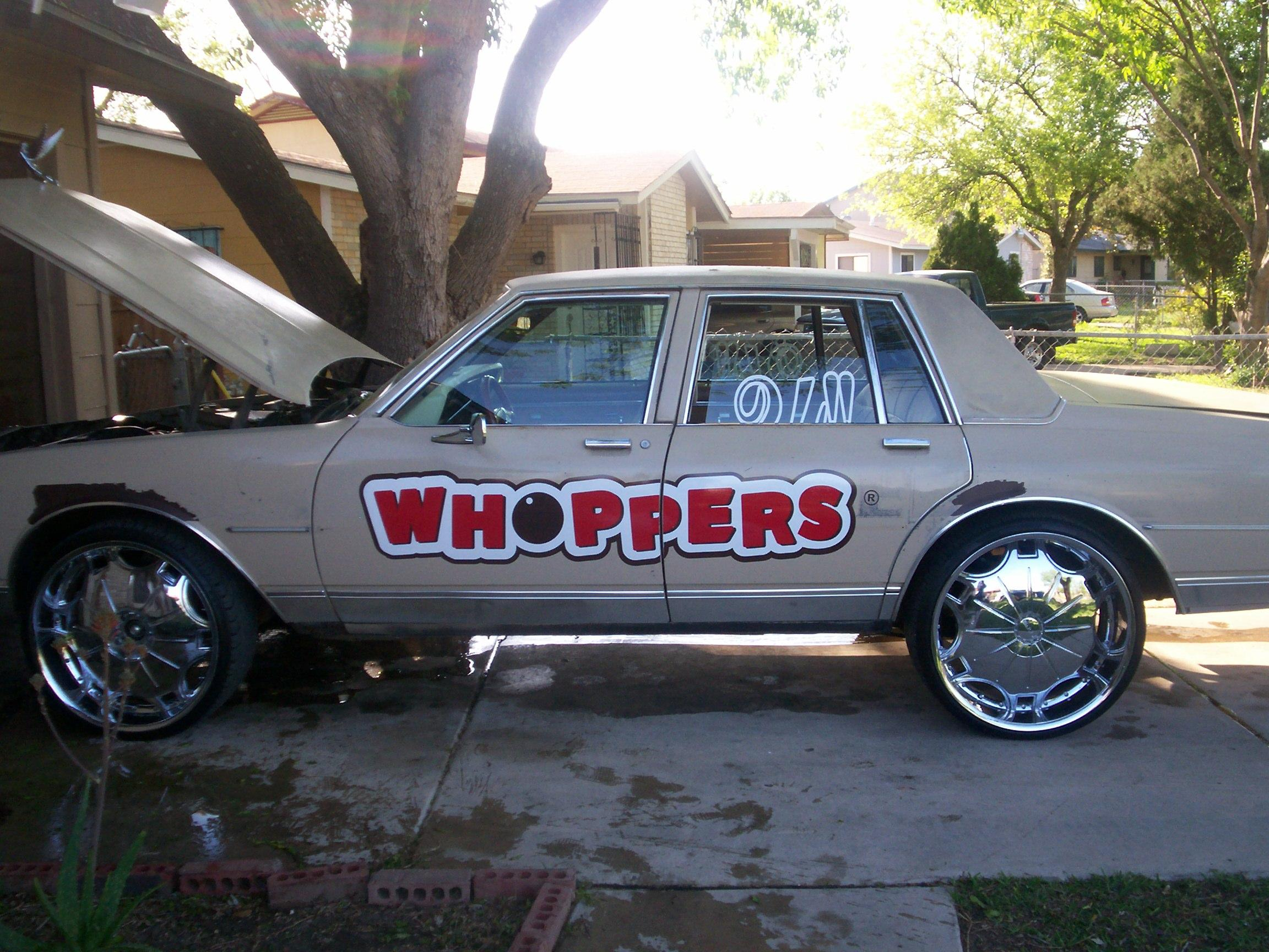 whopper car on 4s