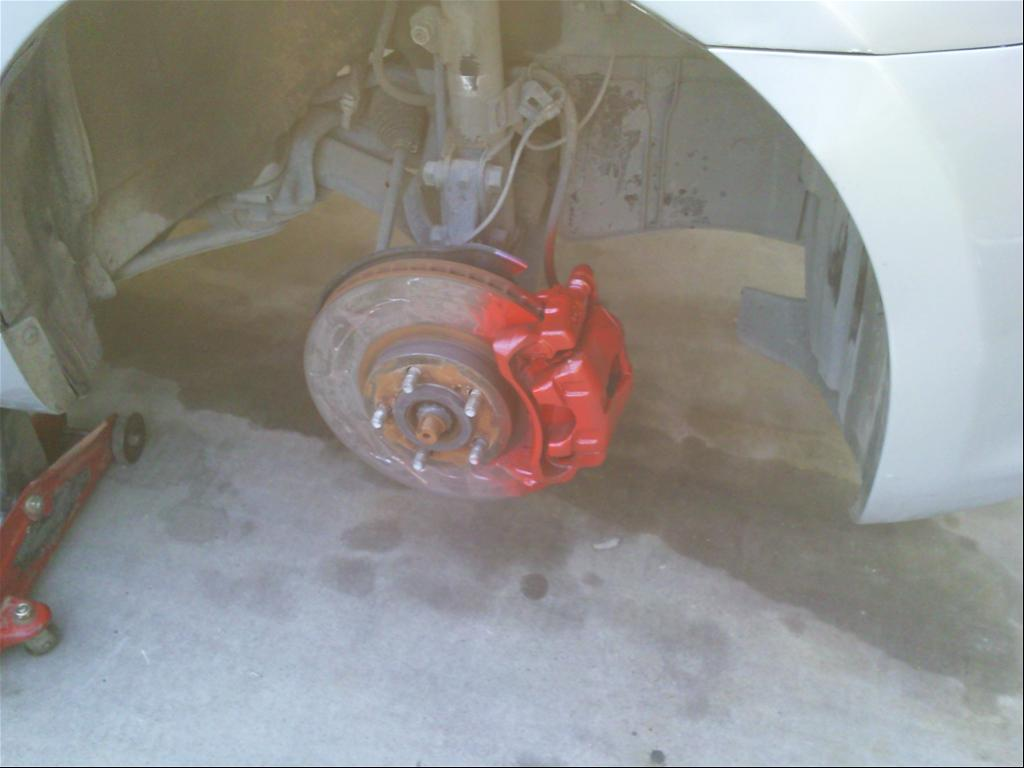 Painted the caliper red