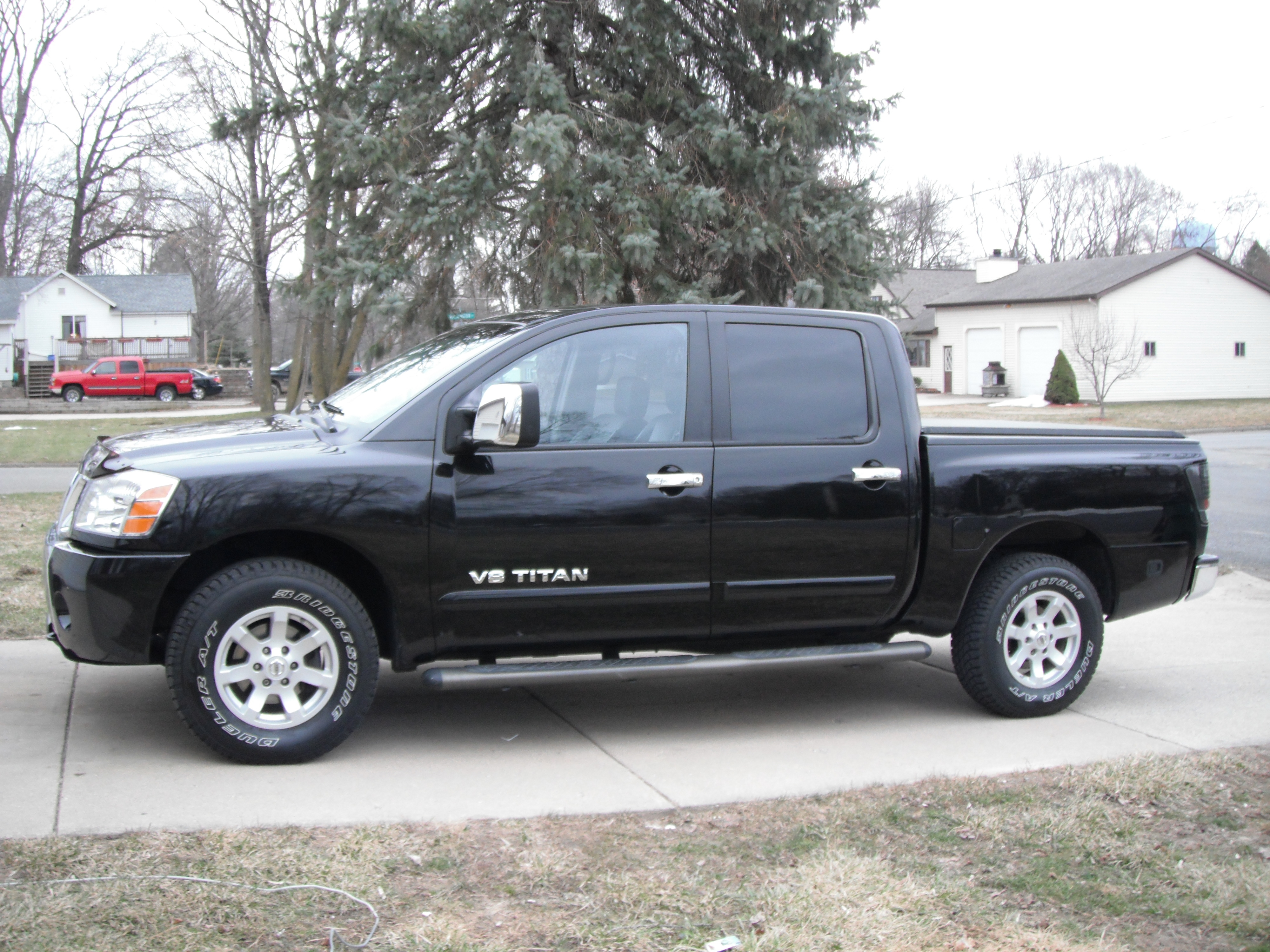 tighttitan 2004 nissan titan crew cab specs photos modification info at cardomain. Black Bedroom Furniture Sets. Home Design Ideas