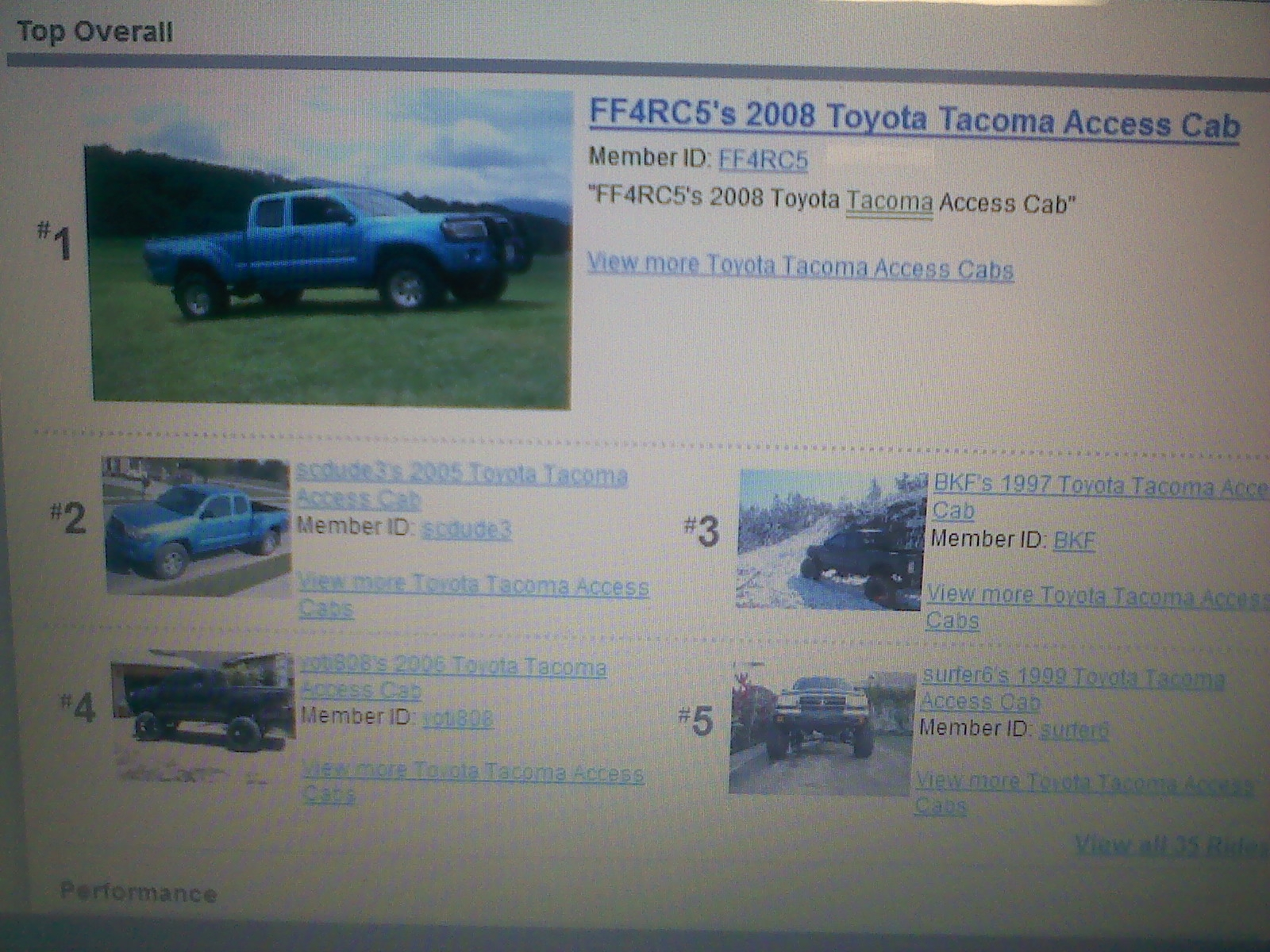 Another FF4RC5 2008 Toyota Tacoma Access Cab post... - 14452640