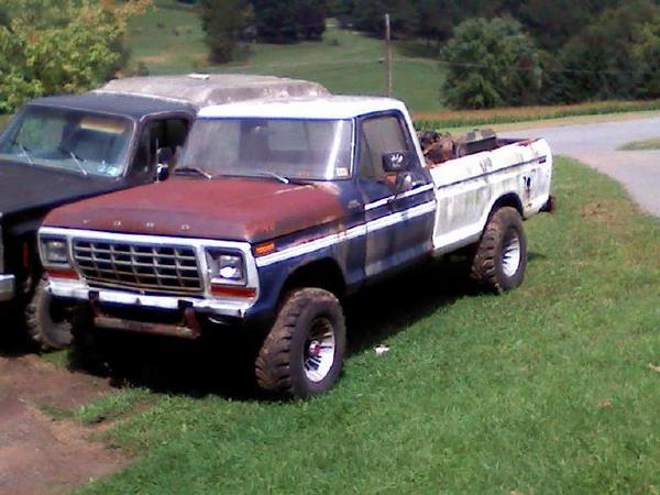 1973 f250 highboy frame and bed with 79 front clip and cab dana 60 s