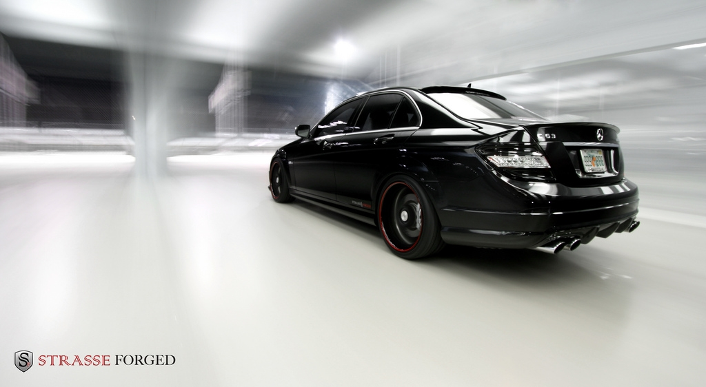 strasse forged 2009 mercedes benz c classc63 amg sedan 4d specs photos modification info at. Black Bedroom Furniture Sets. Home Design Ideas