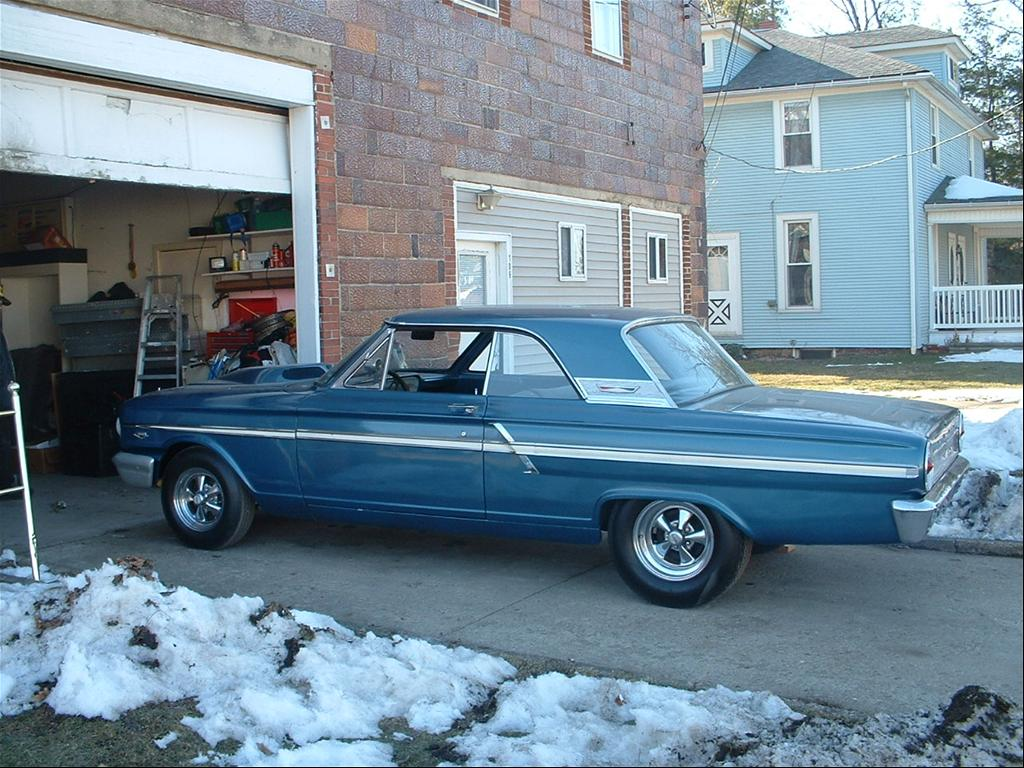 If it were a fairlane 500 sport coupe the trim would look like this with the extra above the c pillar trim and the additional angled pieces behind the side