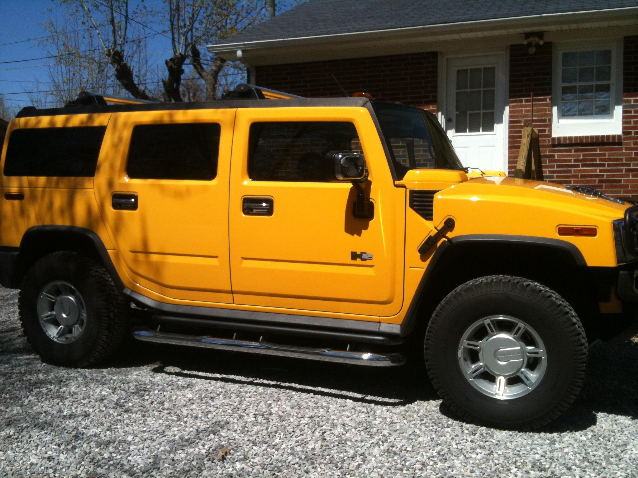 03yellowbee 2003 hummer h2sport utility 4d specs photos modification info at cardomain. Black Bedroom Furniture Sets. Home Design Ideas